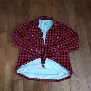 BC Clothing Co. fleece lined buffalo plaid Sz. XL